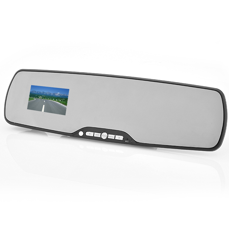 Wholesale 2.7 Inch Bluetooth HD Car DVR Rearview Mirror (1080P, Motion Detection, 6x 940nm IR LEDs, Night Vision)