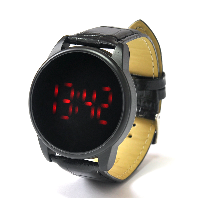 Wholesale Revolte - Stylish Touch LED Watch (Red LEDs, Leather Strap)