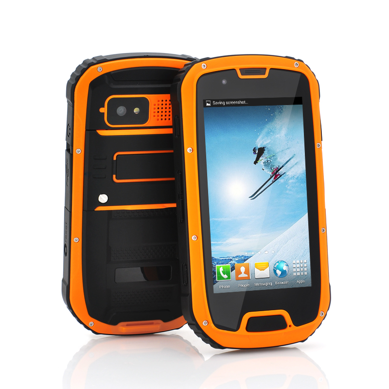 Wholesale Usagi - 4.3 Inch Rugged Quad Core Android 4.2 Phone (Orange, IP67 Waterproof, 1.2GHz CPU, 1GB RAM, 8MP Camera)