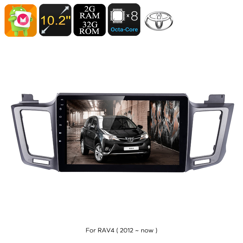 Wholesale 10.2 Inch 1 DIN Android Car Stereo with GPS, Bluetooth, WiFi, 3G, Octa-Core CPU - For Toyota RAV4