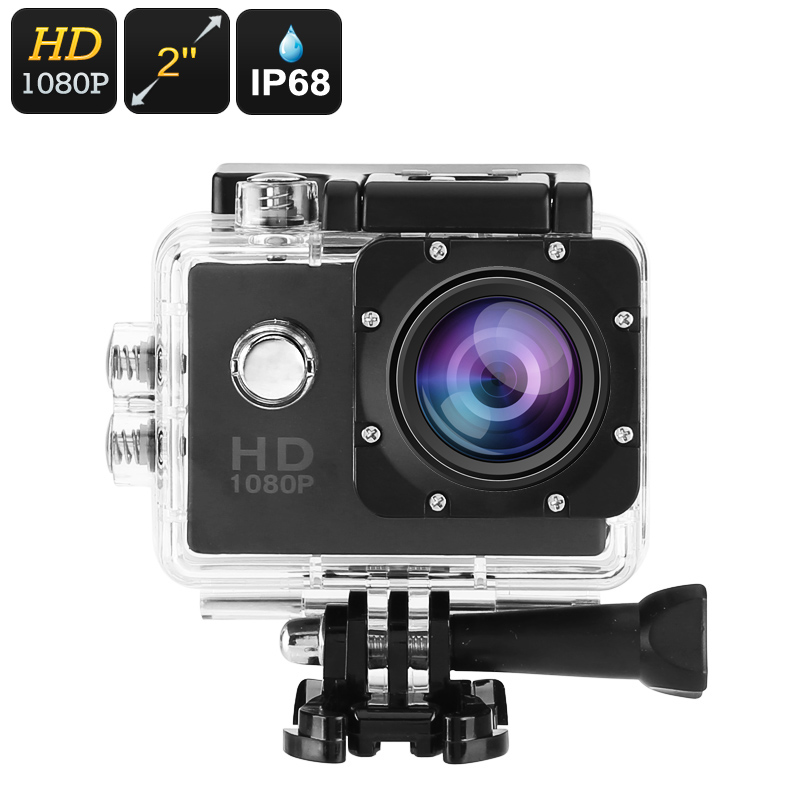 Wholesale 1080p Full-HD Action Camera (IP68 Waterproof Case, 5MP, 140-Degree Lens, 30FPS, Micro SD Card Slot)