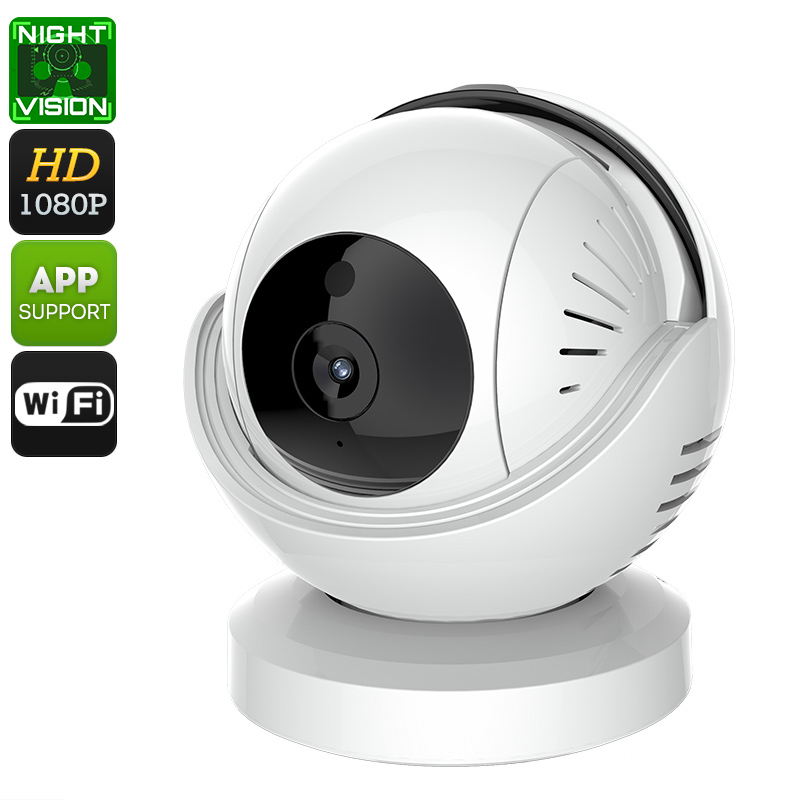 Wholesale 1/3 Inch CMOS 1080p Indoor IP Camera (Two Way Audio, Night Vision, WiFi, PTZ, Motion Detection, Phone Control)