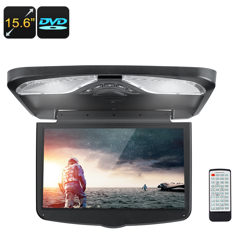 Wholesale 15.6 Inch Car Roof Monitor with Region Free Car DVD Player, Speaker, FM Transmitter
