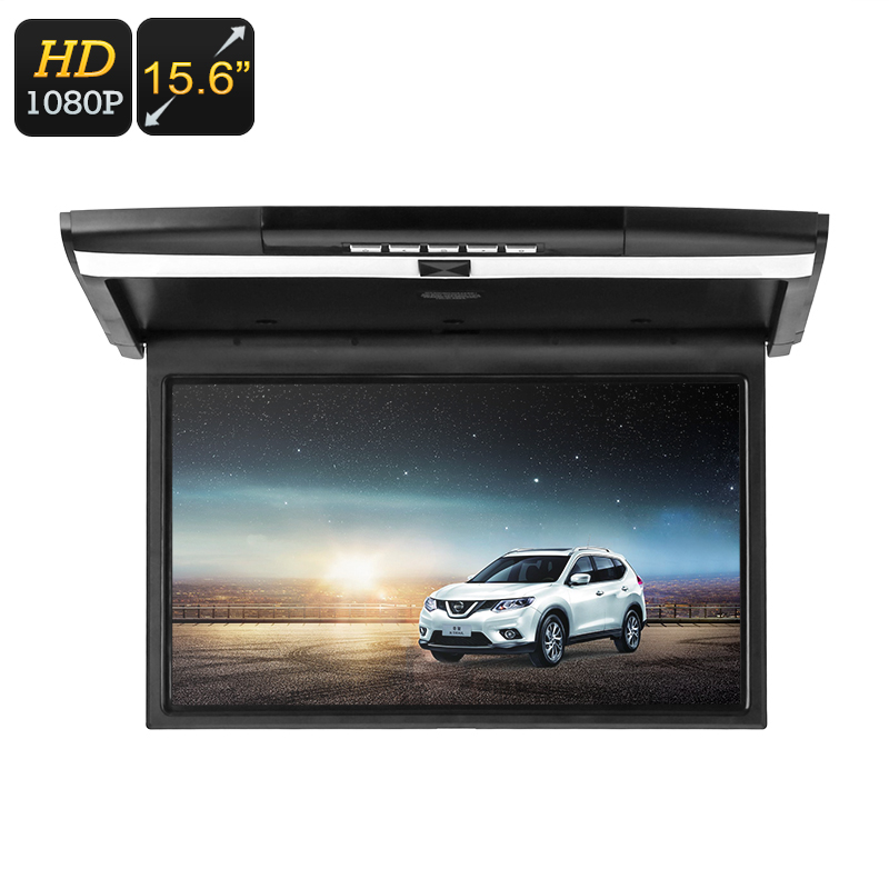 Wholesale 15.6 Inch Car Roof Monitor with Dual Speaker (1920x1080, Remote Control, FM Transmitter, HDMI/AUX/SD Card In)