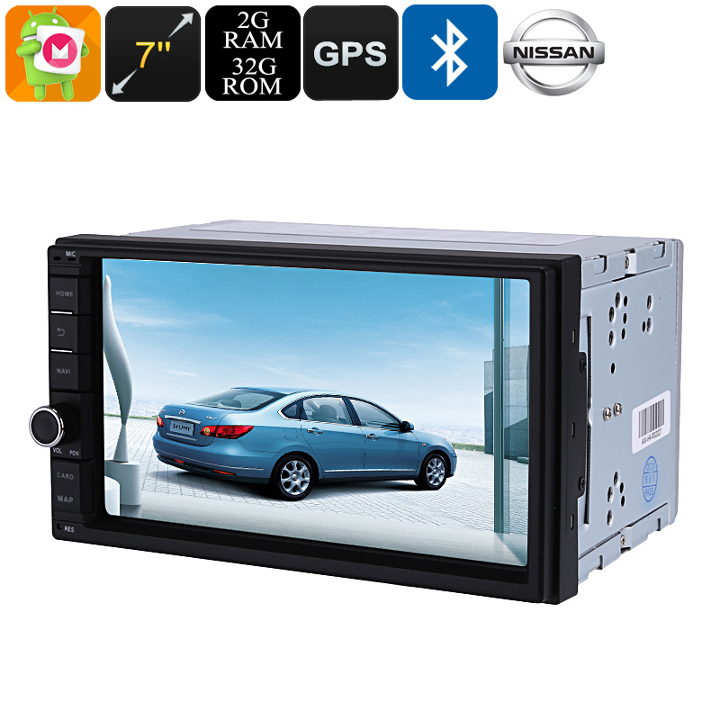 Wholesale 7 Inch HD 2 DIN Android Car Media Player For Nissan (Bluetooth,