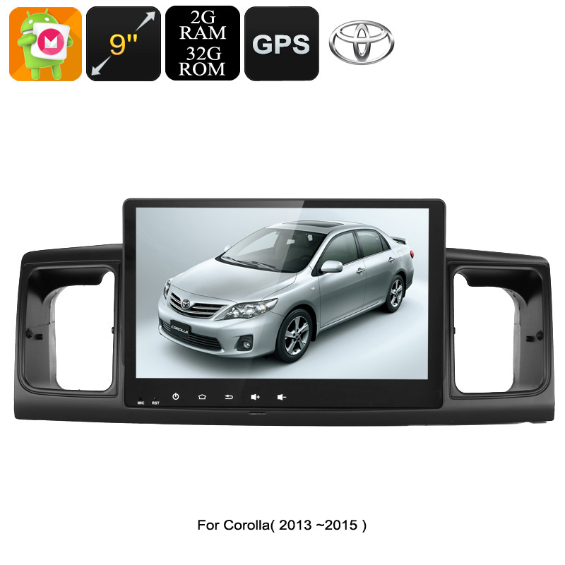 Wholesale 9 Inch 2 DIN Android 6.0 Car Stereo with 20 Channel GPS for Toyota Corolla (WiFi, 3G Support, CAN BUS, 32GB)