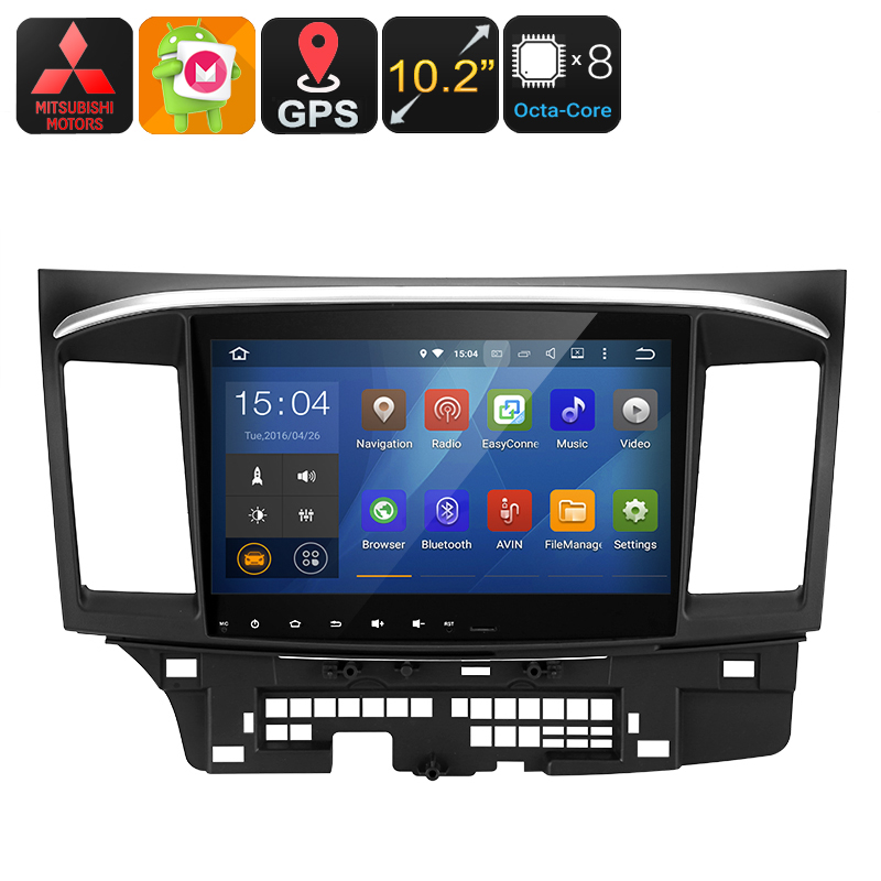 Wholesale 10.2 Inch 2 DIN Android 6 Car Stereo for Mitsubishi Lancer (Octa-Core CPU, GPS, Wi-Fi, Bluetooth, 32GB)