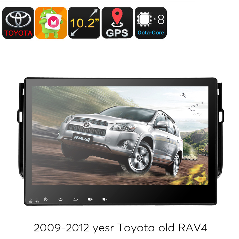 Wholesale 10.2 Inch Touchscreen 2 DIN Android Car Stereo with GPS Navigator for Toyota RAV4 (Octa Core CPU, Bluetooth, 3G)
