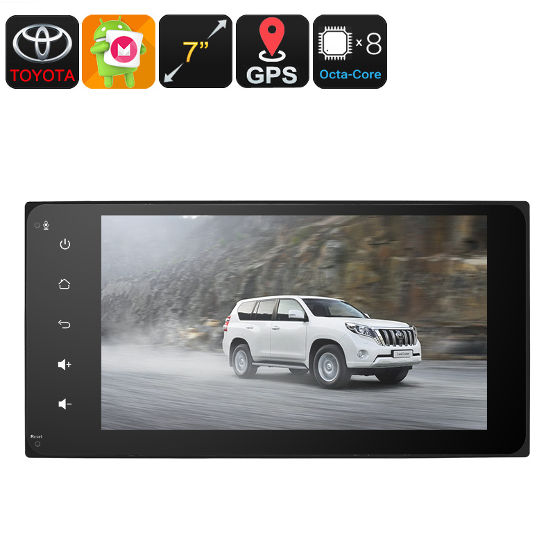 Wholesale 7 Inch 2 DIN Car Stereo for Universal Toyota (Android 6.0, Bluetooth, 3G, WiFi, GPS, Octa-Core CPU)