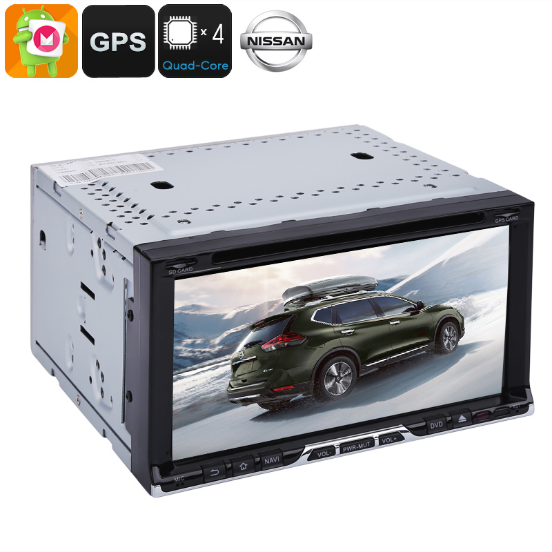 Wholesale 6.95 Inch 2 DIN Android Car DVD Player for Universal Nissan (20 Channel GPS, Quad-Core, CAN BUS, Bluetooth, 16GB)
