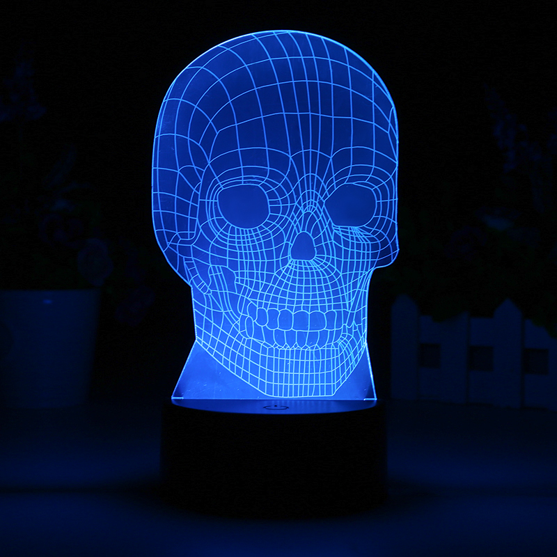 Wholesale 3D Skull LED Light (7 Colors, 5W)