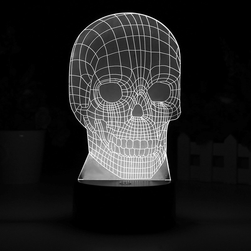 3D Skull LED Light (7 Colors, 5W)