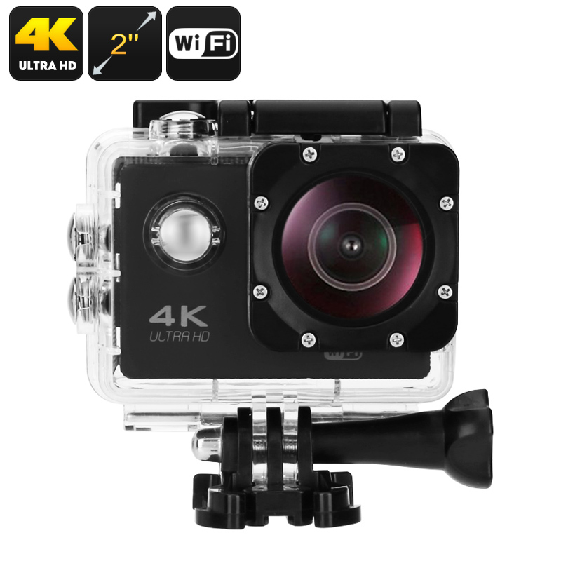 Wholesale 16MP 4K Sports Camera with IP68 Waterproof Case (WiFi, 30fps, 17