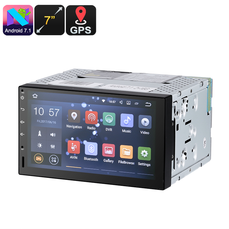 Wholesale Universal 7 Inch HD 2 DIN Car Stereo (Android 7.1, 4 Core CPU, A