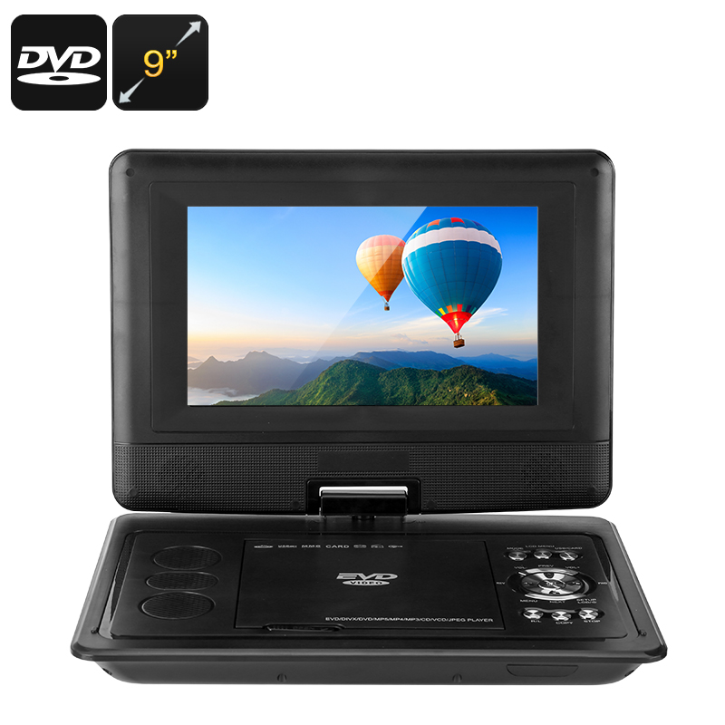 Wholesale 9 Inch Universal Portable DVD Player (3D Movie, Game, Analog TV, 270-Degree Screen Rotation)