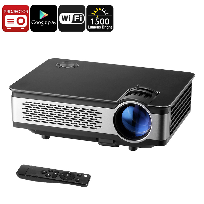 Wholesale WiFi 1080p HD Android Projector with Built-in Speaker (1500 Lumen, 1280x768, 120W LED)