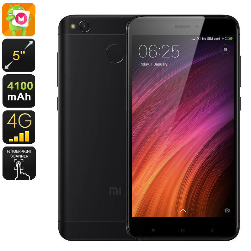 Wholesale Xiaomi Redmi 4X 5 Inch HD 4G Android Mobile Phone (Octa Core CPU, Dual-IMEI, Fingerprint, 13MP Camera, 16GB, Black)