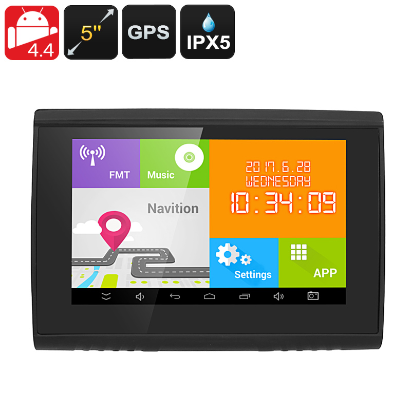Wholesale 5 Inch 22 Channel Android GPS Navigation System (IPX5 Waterproof, Bluetooth)
