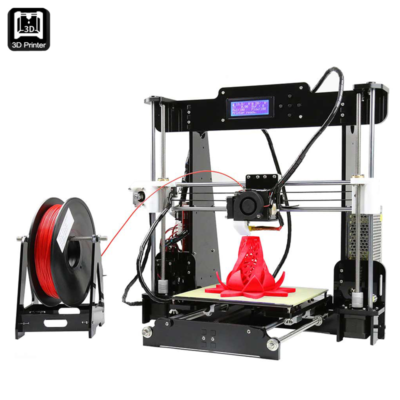 Wholesale Anet A8 3D Printer Prusa i3 DIY Kit (STL + G-Code, 220x220x230mm, 0.004mm Precision, SD Card Slot)