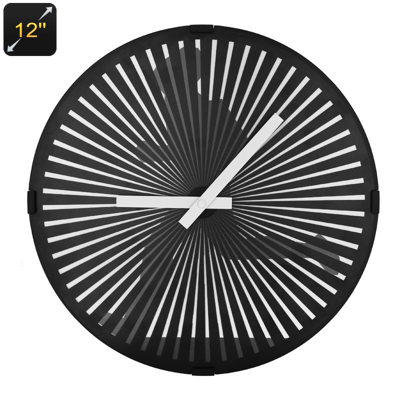 Wholesale Ultra Quiet Animated Zoetrope Quartz Wall Clock (12 Inch Face, Running Man Animation, Modern Design)