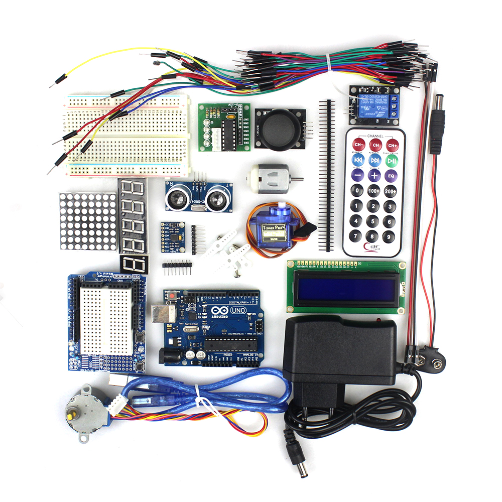 Arduino uno r board starter educational kit for