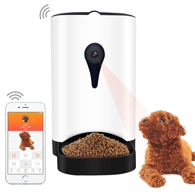 Wholesale Automatic Food Dispenser with 1MP Camera and Speaker (iOS / Android Control, 4.3L, For Dry Food)