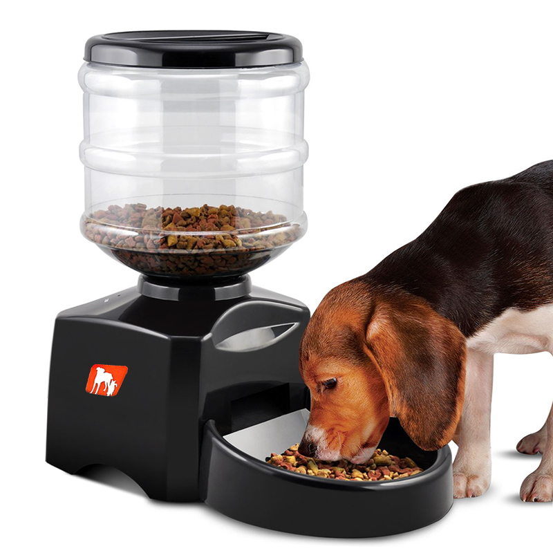 Wholesale Programmable Automatic Food Dispenser Pet Feeder for Dog/Cat (5L Tank, Supports Dry Food, Voice Recording)