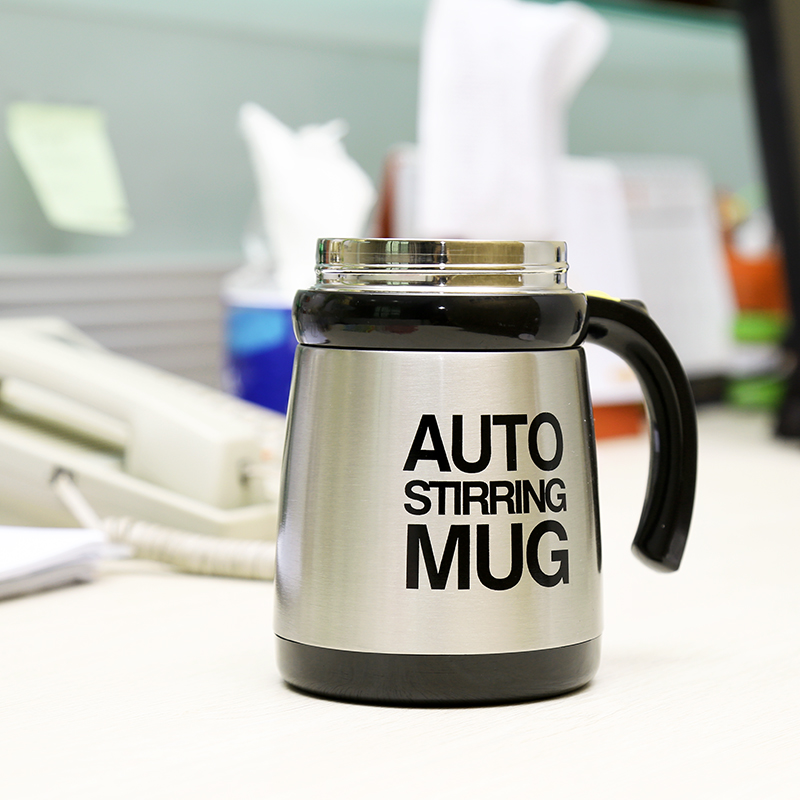 Multifunctional Stainless Steel Automatic Stirring Mix Mug - 400ML