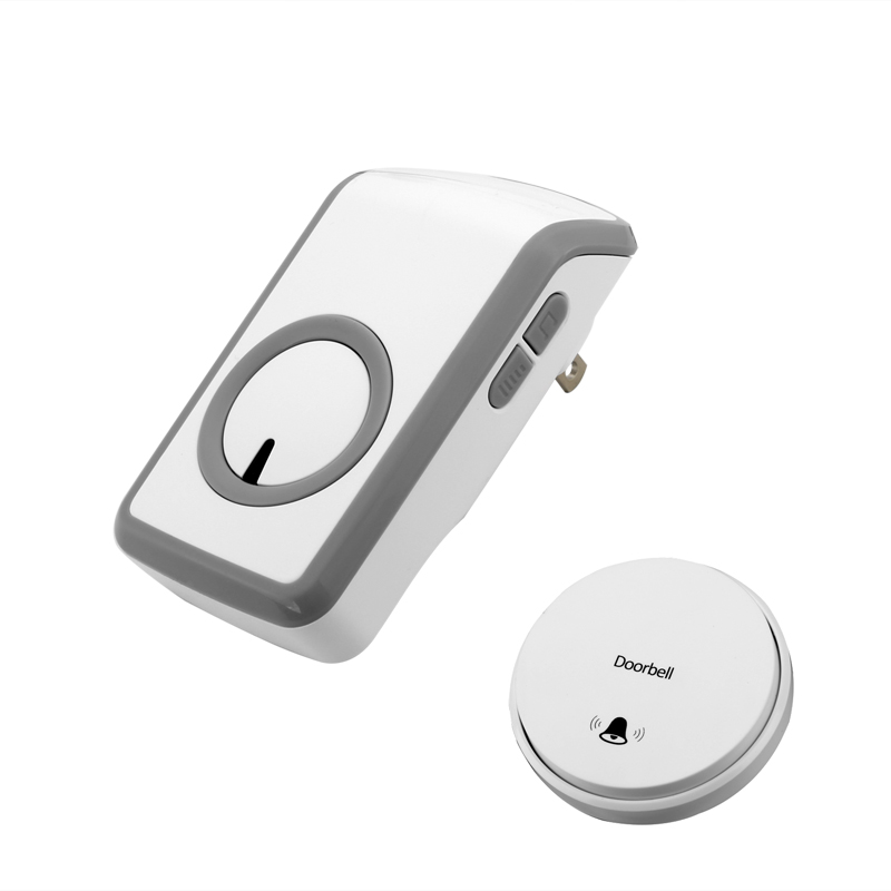 Wholesale Battery-Free Wireless Doorbell (30 Meter Range, 48 Ring Tones, Plug And Play)