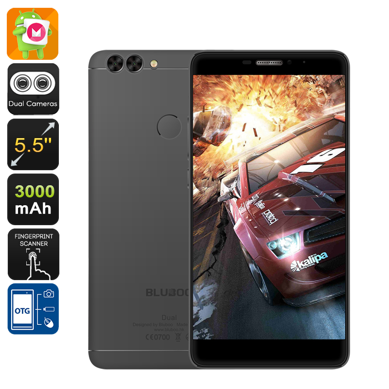 Wholesale Bluboo Dual 5.5 Inch FHD 4G Android Phone (1920x1080, Dual Camera, Quad-Core CPU, 16GB, Black)