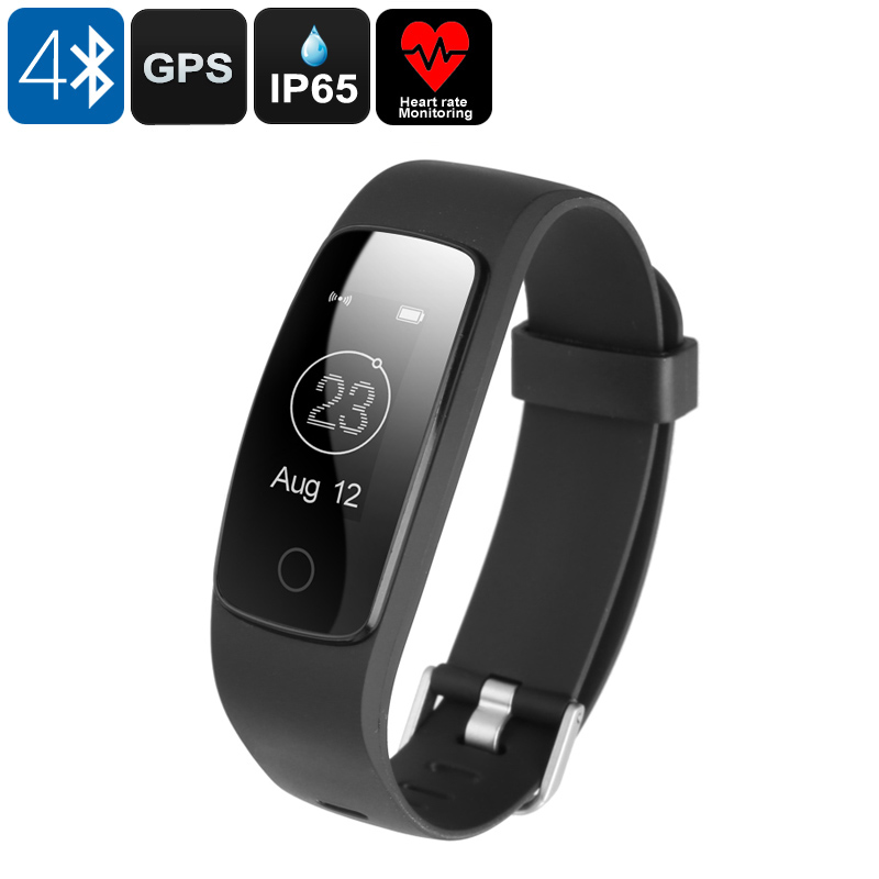 Wholesale Bluetooth Fitness Band (Heart Rate Monitor, GPS, IP65 Waterproof, Sedentary Alert, Black)