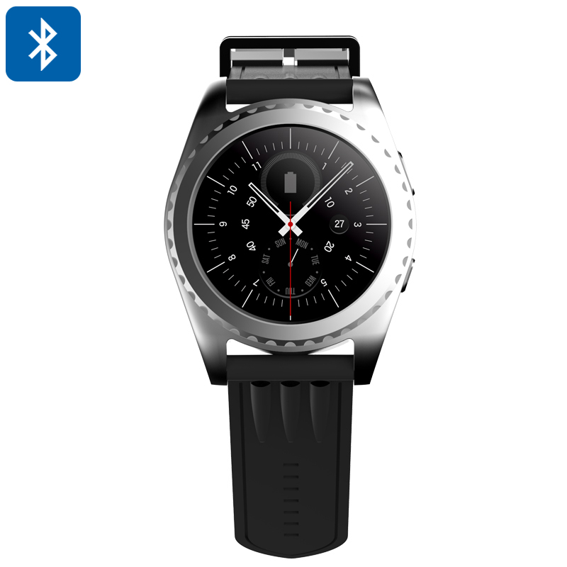 Wholesale 1.2 Inch Touchscreen Bluetooth Smart Watch (Phone Calls, Sleep Monitor, Pedometer, Heart Rate Monitor, Silver)