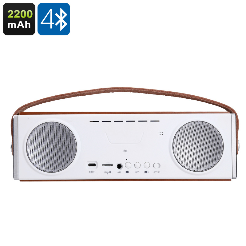 Wholesale Stylish Dual Bluetooth Speaker (2200mAh, SD Card Slot, Handsfree Calls)