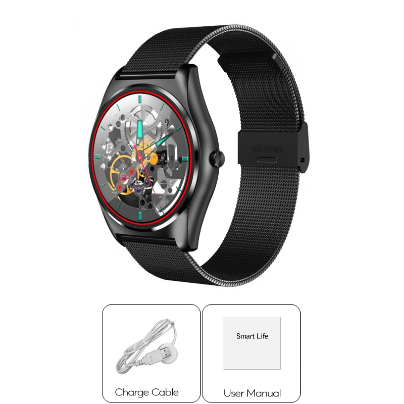 Ordro B7 - Bluetooth Sports Watch for Apple/Android (Heart Rate Monitor, Wireless Charging, Touchscreen)