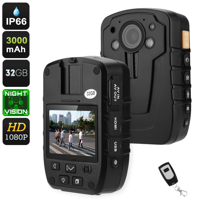 Wholesale 1080p Night Vision Body Worn Camera (140-Degree Lens, 3000mAh, 16x Digital Zoom, 32GB)