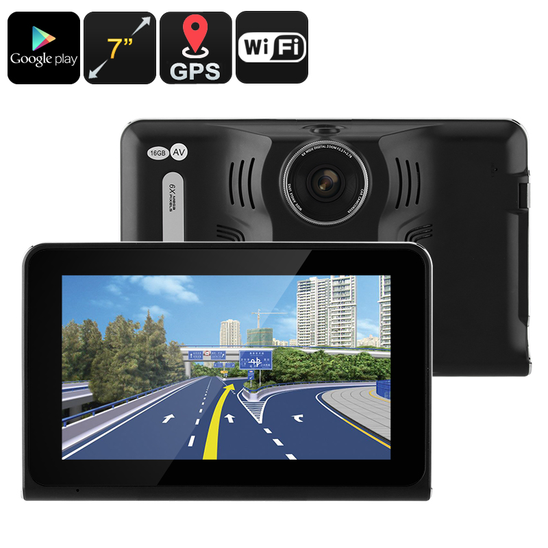 Wholesale 7 Inch Android Car DVR Dash Cam with GPS and Anti-Radar Detector (Quad-Core CPU, WiFi, 5MP, 16GB)