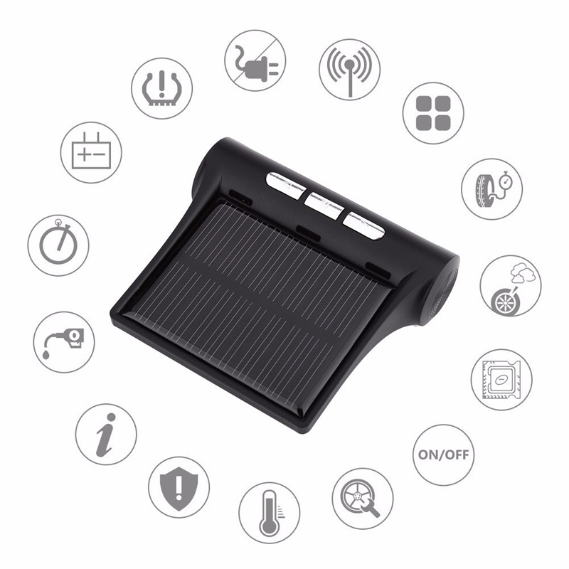 Solar Car Tire Pressure Monitoring System (Realtime, Air Leakage Alarm, Plug and Play)