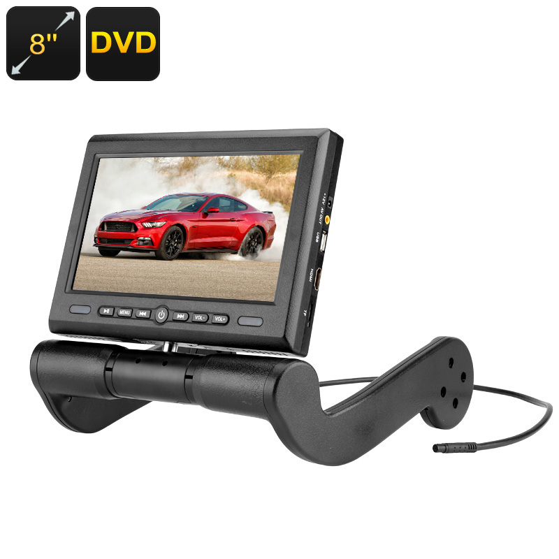 Wholesale Central Armrest Rotatable Region Free Car DVD Player with 8 Inch Display, FM Transmitter, Stereo Speakers