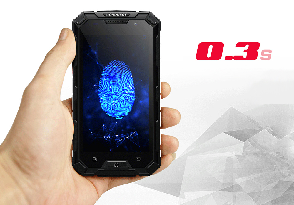 Conquest S8 2017 Edition 4g Rugged Phone Walkie Talkie