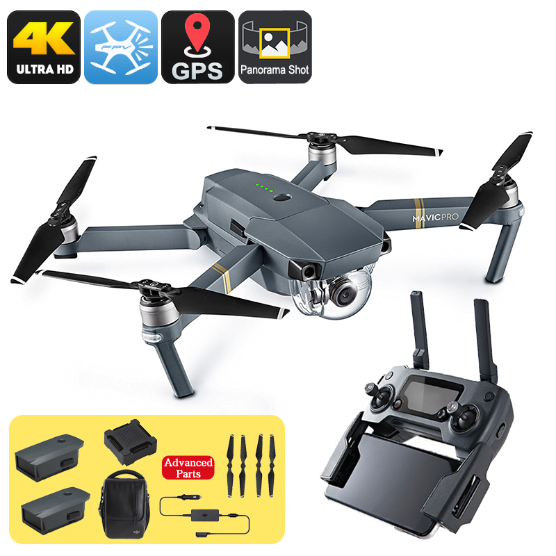 Wholesale DJI Mavic Pro Folding Camera Drone Combo Pack (GPS/GLONASS, 4 Mile Range, 4K Camera, 3 Batteries, Carry Bag)