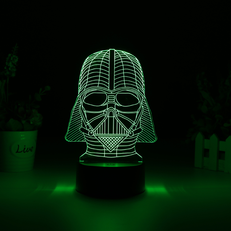 Wholesale Darth Vader 3D LED Light (Touch Switch, 7 Colors, 5W)