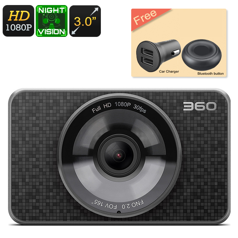 Wholesale 360 Full HD 1080P Dash Cam (60FPS, Night Vision, Loop Record, 3 Inch, 1/2.7 Inch CMOS)