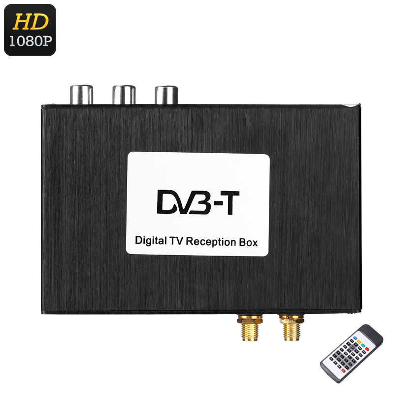 Wholesale 1080p Car Digital TV Receiver Box (Two Way Video Audio, Subtitle, Dual Antenna, Remote Control)