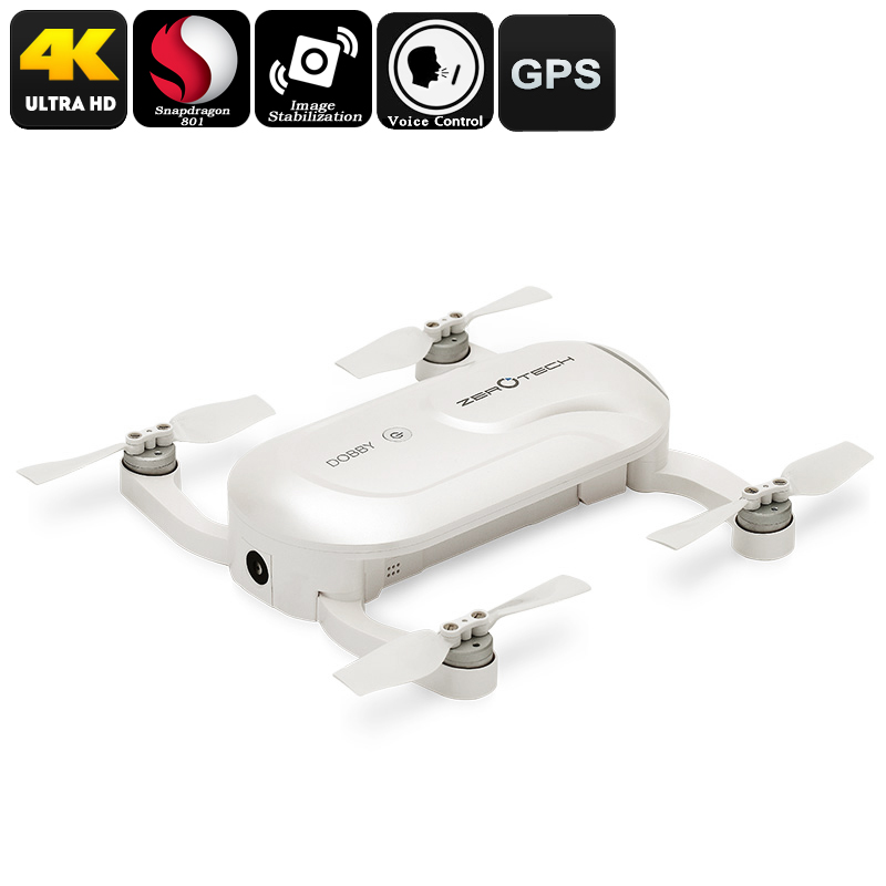 Wholesale Dobby Folding Drone w/ 13MP 4K Camera (GPS, Quad Core CPU, Auto