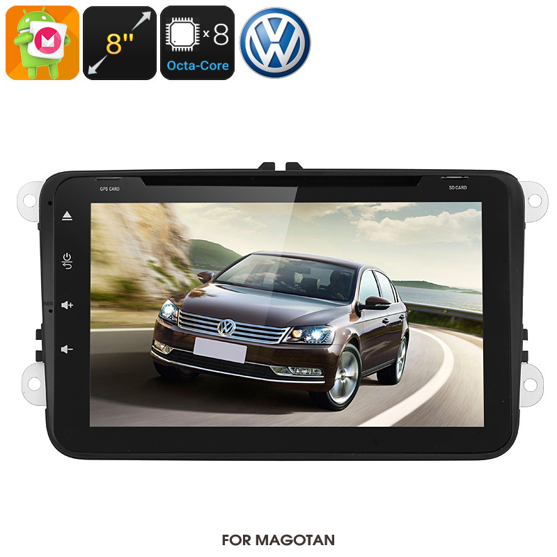 Wholesale 8 Inch HD Android 6.0 Dual-DIN Car DVD Media Player For Volkswagen Magotan (WiFi, GPS, CAN BUS, Octa-Core, 32GB)