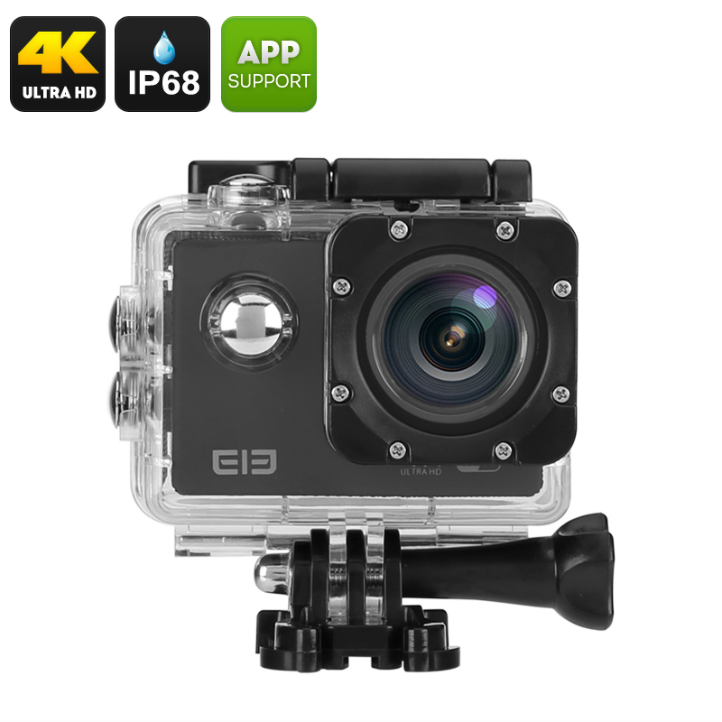 Wholesale Elephone ELE Explorer 16MP 4K Action Camera (Wide Angle, IP68 Waterproof Case, Wi-Fi, Black)