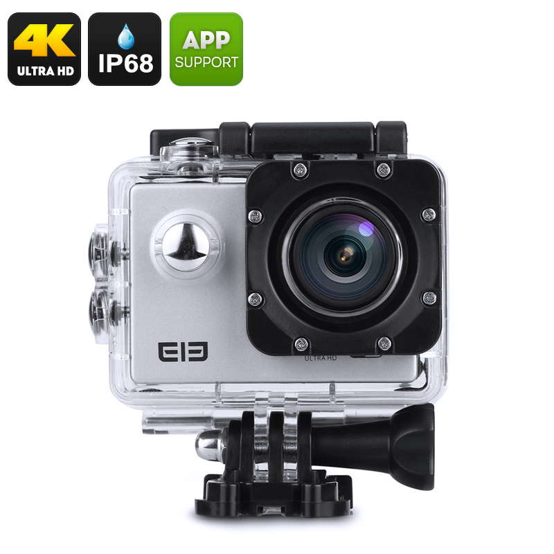 Wholesale Elephone ELE Explorer 16MP 4K Action Camera (Wide Angle, IP68 Waterproof Case, Wi-Fi, Silver)