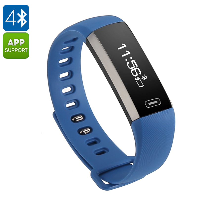 Wholesale Fitness Tracker Bracelet M2 (Heart Rate Monitor, Pedometer, Bluetooth, iOS + Android APP, Remote camera, Call Reminder, Blue)