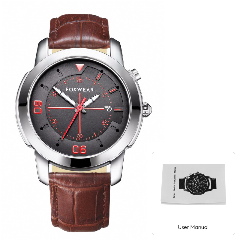 Foxwear Y22 Bluetooth Sports Watch (Stylish Quartz Design, Swiss Ronda 751 Movement, Silver)