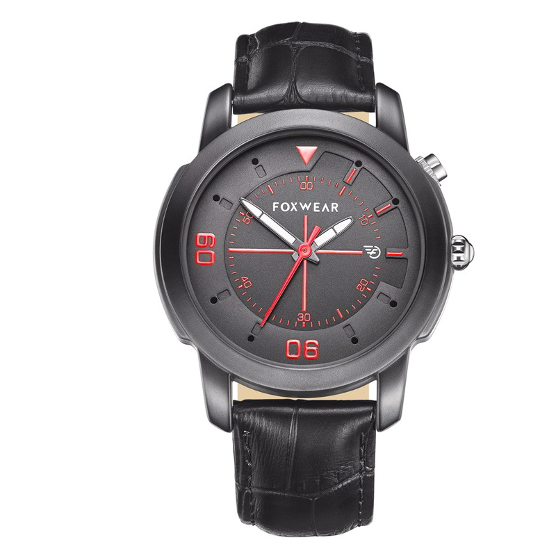 Foxwear Y22 Bluetooth Sports Watch (Stylish Quartz Design, Swiss Ronda 751 Movement, Black)